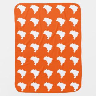 Orange festlicher Brasilien-Karten-Druck Puckdecke