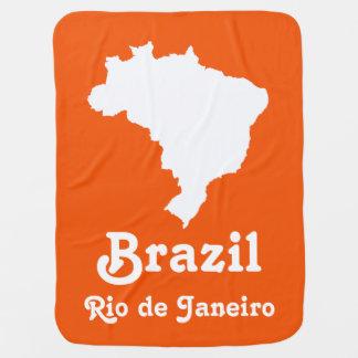 Orange festliches Brasilien mit kundenspezifischem Babydecke