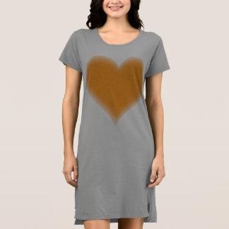 Orange flockiges Herz kundengerecht Kleid