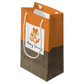 Orange Fox-Leinwand-Babyparty Kleine Geschenktüte