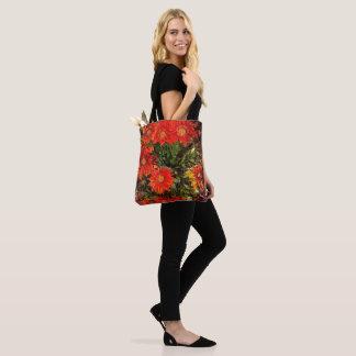 Orange Gazania-Gänseblümchen-Blumen Tasche