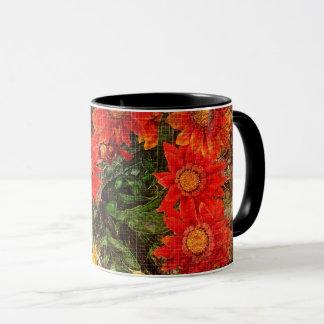 Orange Gazania-Gänseblümchen-Blumen Tasse
