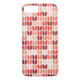 Orange geometrisches Muster iPhone 8/7 Hülle