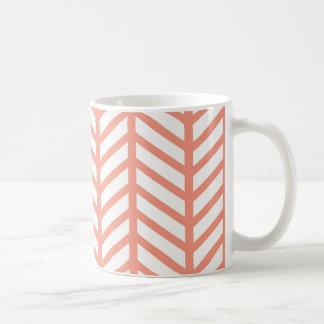 Orange Gitter-Webart Kaffeetasse