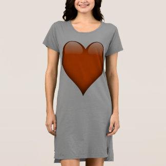 Orange Glasherz kundengerecht Kleid