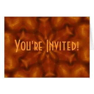 Orange Glut-Einladung Karte