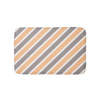 Orange graue diagonale Streifen Badematte
