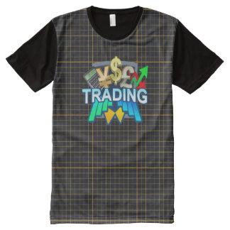 Orange Handelsgitter aller DruckT - Shirt
