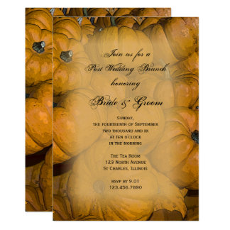 Orange Herbst-Kürbis-Posten-Hochzeits-Brunch laden 12,7 X 17,8 Cm Einladungskarte
