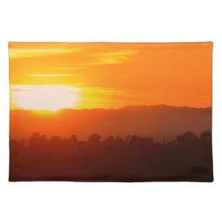 Orange Himmel-Orange Sun SonnenuntergangHollywood Tischset