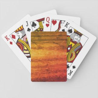 Orange hölzerner Effekt Spielkarten