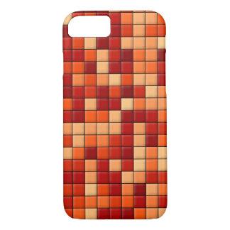 Orange Karos iPhone 8/7 Hülle