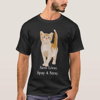 Orange Katze, retten die Leben Spay einen Stray T-Shirt