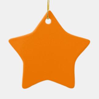 Orange Keramik Stern-Ornament