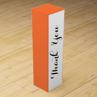 Orange Klassiker gefärbt Wein-Geschenkverpackung