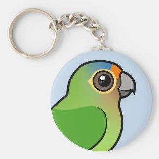 Orange-konfrontierter Parakeet Schlüsselanhänger