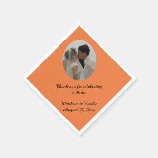 Orange kundenspezifische personalisierte serviette
