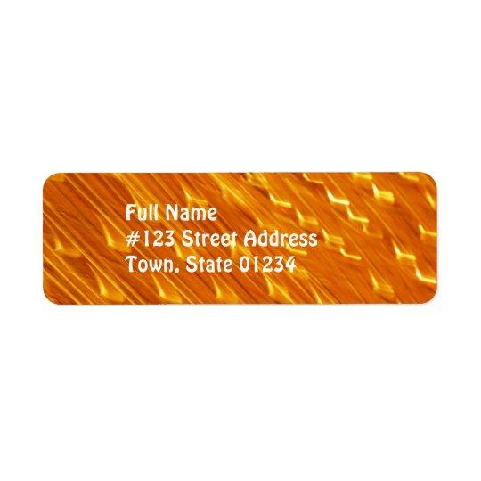 Orange Lava-Postsendung-Aufkleber Kleiner Adressaufkleber