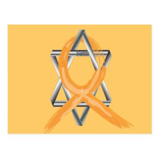 Orange Leukämie-Überlebend-Band Postkarte