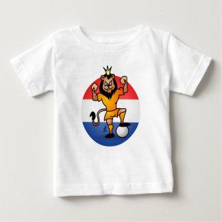 Orange Löwefußballheld Baby T-shirt
