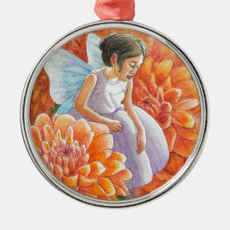 Orange Mama-Fee Silbernes Ornament