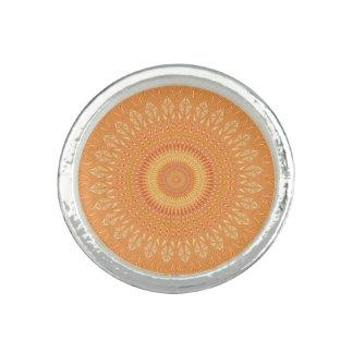 Orange Mandala Ring