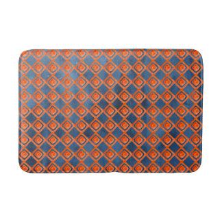 Orange Marine-Blau-Aquarell-Muster Badematte