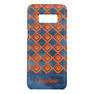 Orange Marine-Blau-Aquarell-Muster Case-Mate Samsung Galaxy S8 Hülle
