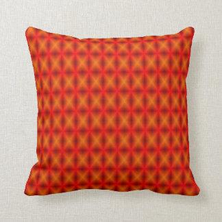 Orange Maschen-geometrischer Entwurfs-Kissen Kissen