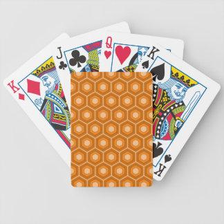 Orange mit Ziegeln gedeckte Hexe-Spielkarten Pokerkarten