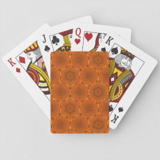 Orange modernes Muster Pokerkarte