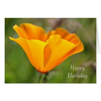 Orange Mohnblume mit Blumen Karte
