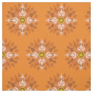 Orange Muster Feuerpaisleys Orientale Stoff