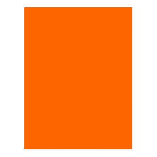 Orange Normallack Postkarte