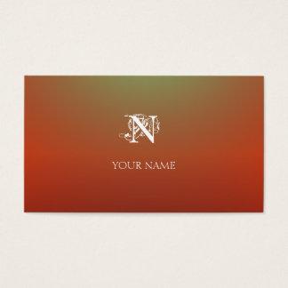 Orange Nouveau Visitenkarte