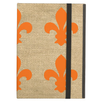 Orange Pariser Moods Fleur de Lys Pattern