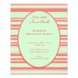 orange Pastellgrün stripes Party Flyer