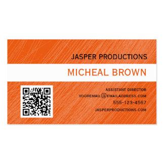 Orange QR Code-Visitenkarte Visitenkarten
