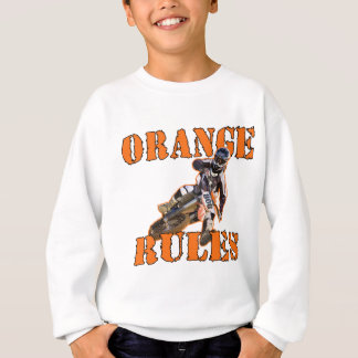 Orange Regeln Sweatshirt