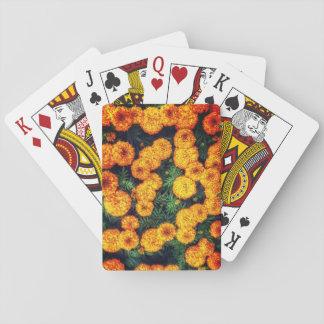 Orange Ringelblumen-Spielkarten Spielkarten