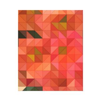 Orange rosa und grüne Dreieck-geometrischer Leinwanddruck