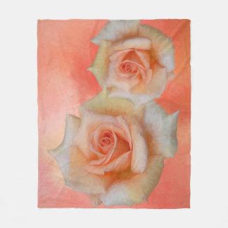 Orange Rosen-abstrakte Fleece-Decke Fleecedecke