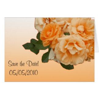 orange Rosenhochzeits-Einladungskarte Karte
