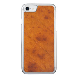 Orange Rost-Herbst-Blatt | schnitzte iPhone 7 Fall Carved iPhone 8/7 Hülle