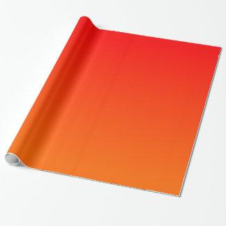 Orange Rot-Steigung Geschenkpapierrolle