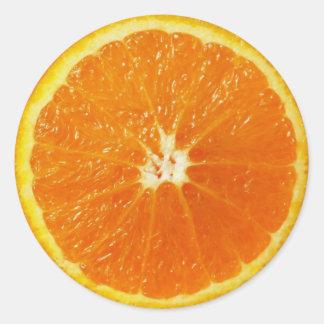 Orange Runder Aufkleber