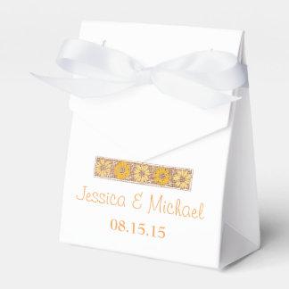 Orange rustikaler Wildblume-Bevorzugungs-Kasten Geschenkschachtel