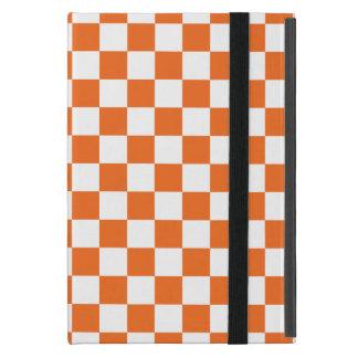 Orange Schachbrett iPad Mini Schutzhüllen