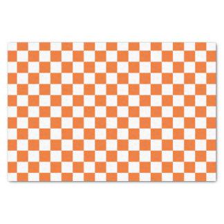 Orange Schachbrett Seidenpapier