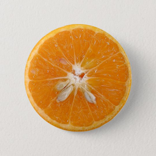 orange Scheibe-Foto Runder Button 5,7 Cm
